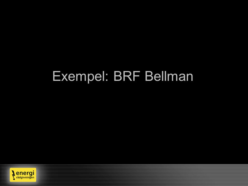 Exempel: BRF Bellman