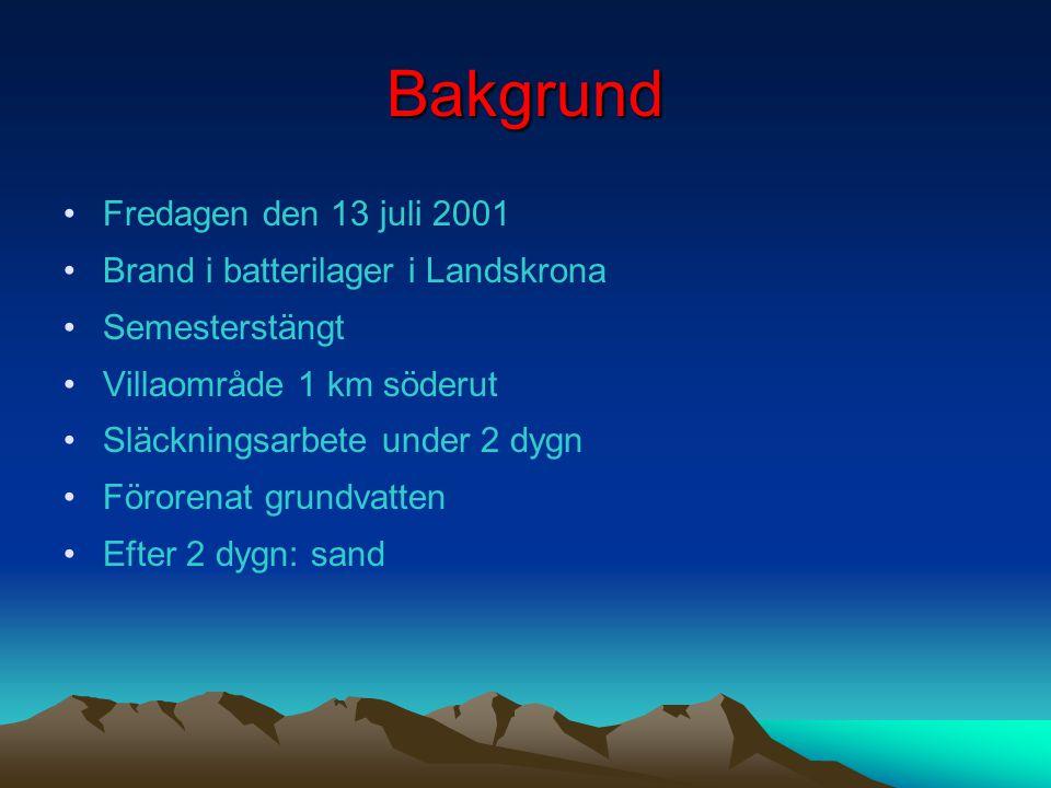 Antal utsläpp av farliga ämnen per år i Sverige År 20002001200220032004 Antal utsläpp 19701910170915691572 Döda 00001 Svårt skadade 04231 Lindrigt ska