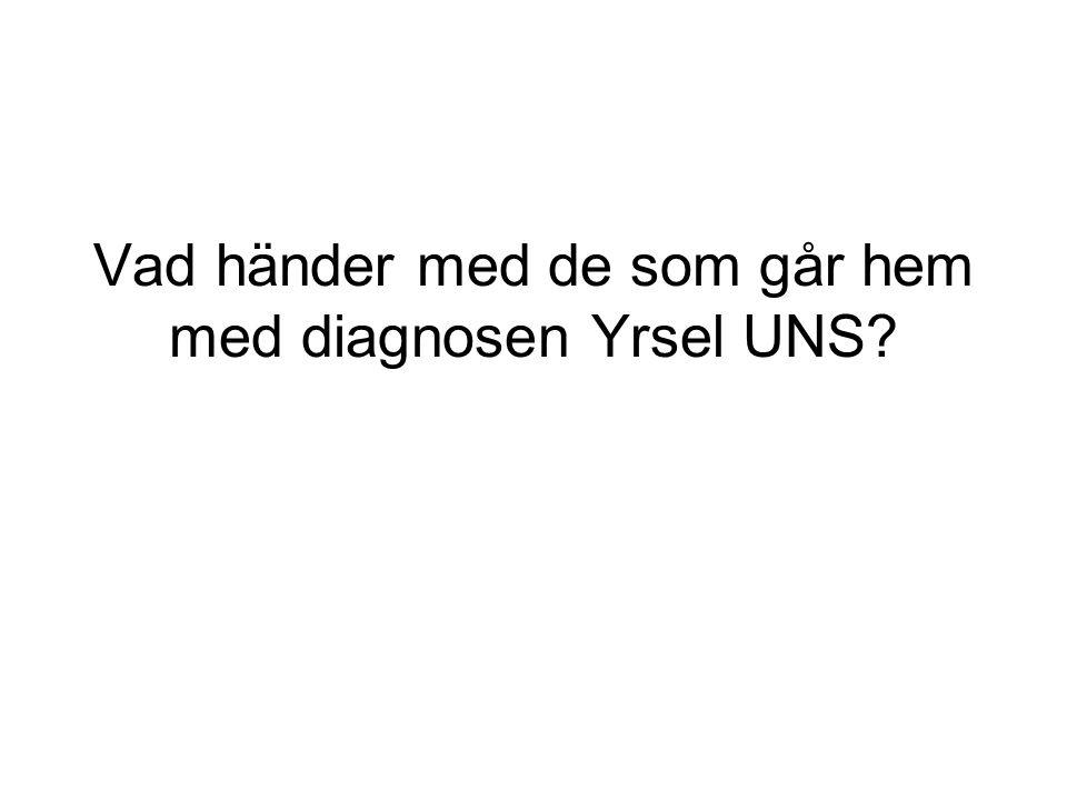 Vad händer med de som går hem med diagnosen Yrsel UNS?