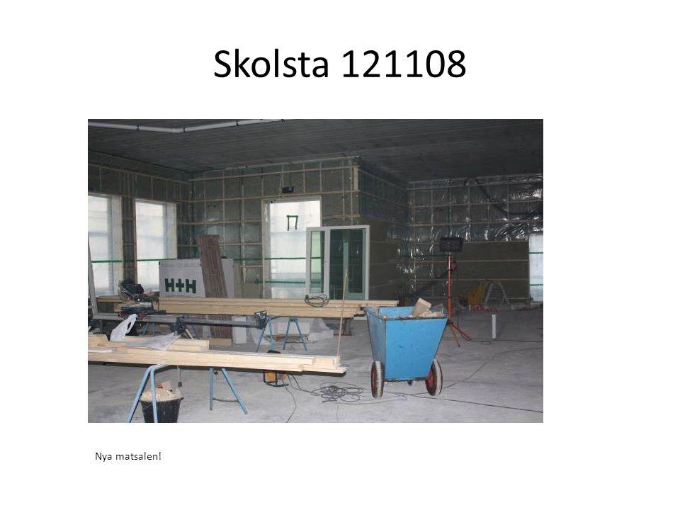 Övervåningen. Här kommer det att bli klassrum med högt i tak!