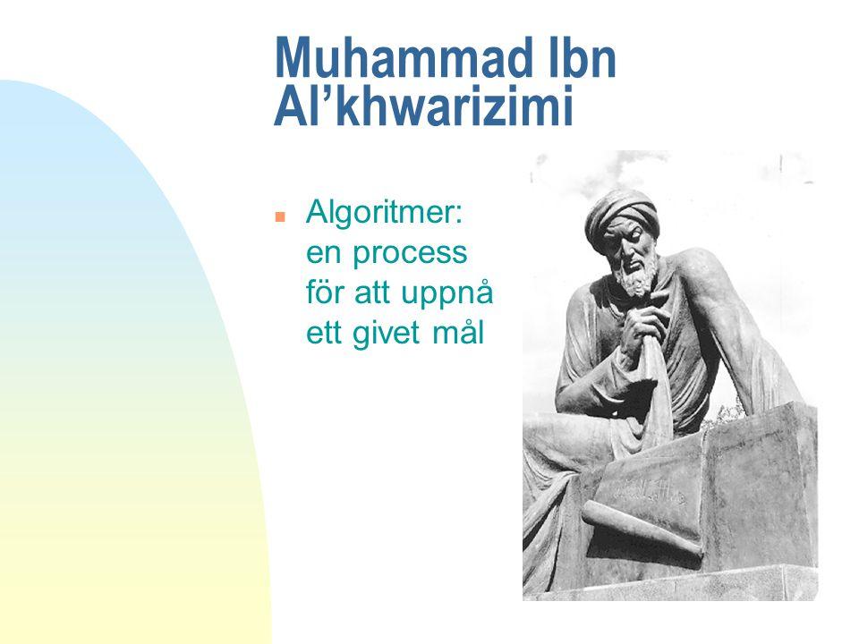 Muhammad Ibn Al'khwarizimi n Algoritmer: en process för att uppnå ett givet mål