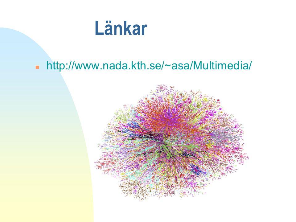 Länkar n http://www.nada.kth.se/~asa/Multimedia/