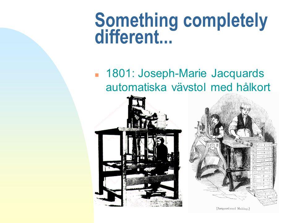 Charles Babbage n En analytisk maskin med program n Ada Lovelace: första hackern