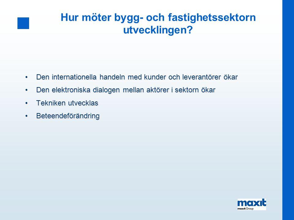 Läget för Elektroniska Affärer inom bygg- och fastighetssektorn!.