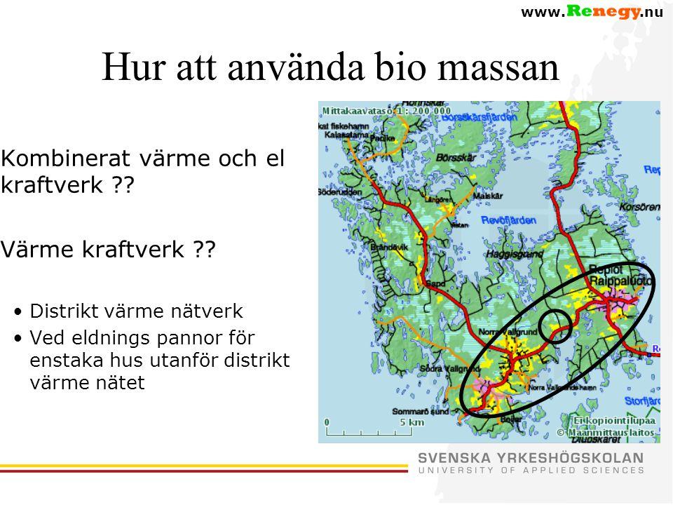 www..nu Hur att använda bio massan –Kombinerat värme och el kraftverk ?.
