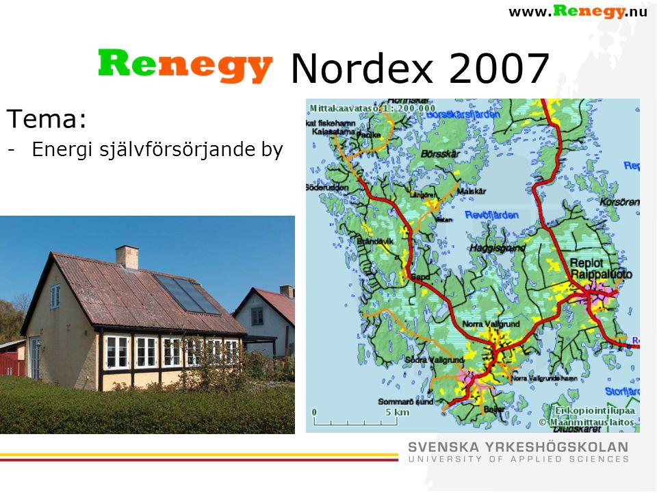 www..nu Nordex 2007 Tema: -Energi självförsörjande by