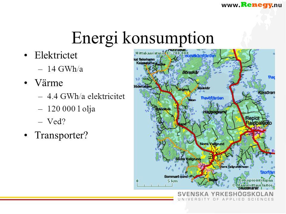 www..nu Energi konsumption •Elektrictet –14 GWh/a •Värme –4.4 GWh/a elektricitet –120 000 l olja –Ved.