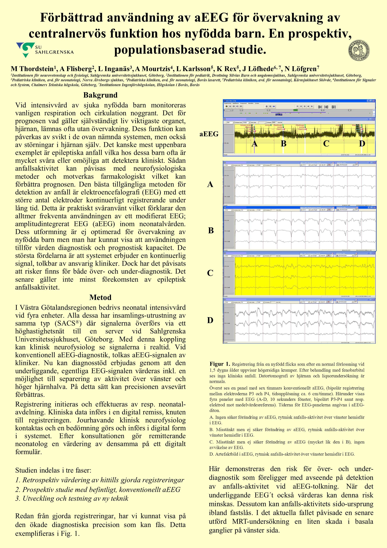 Förbättrad användning av aEEG för övervakning av centralnervös funktion hos nyfödda barn. En prospektiv, populationsbaserad studie. Bakgrund Vid inten