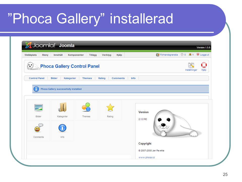 Phoca Gallery installerad 25