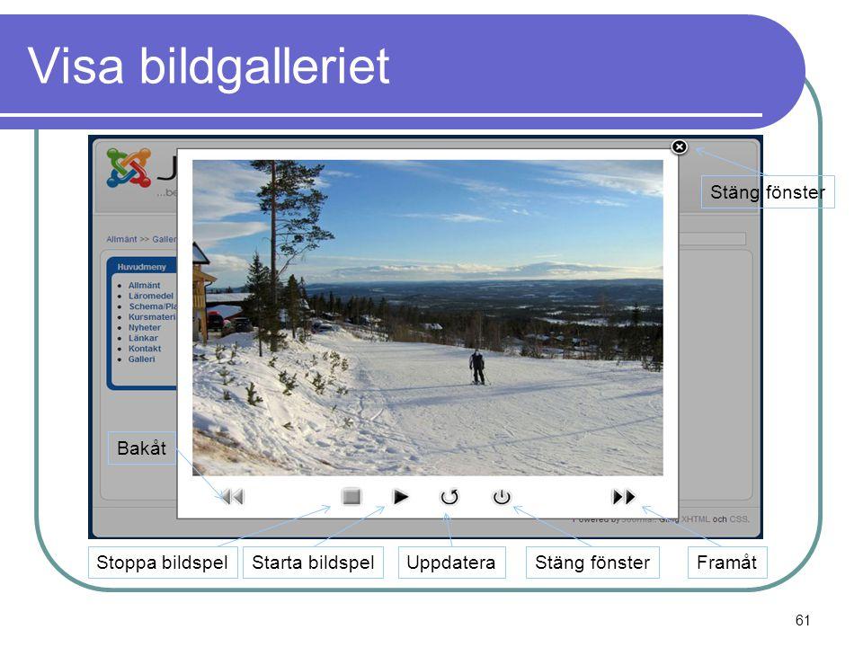 Visa bildgalleriet Bakåt FramåtStoppa bildspelStarta bildspelStäng fönsterUppdatera Stäng fönster 61