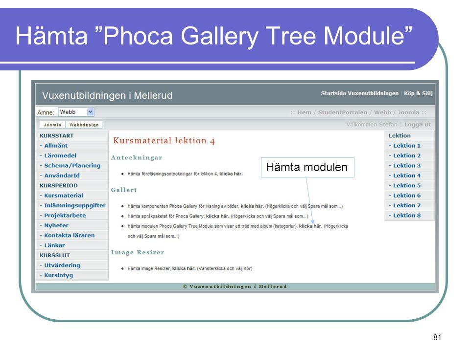 Hämta Phoca Gallery Tree Module Hämta modulen 81