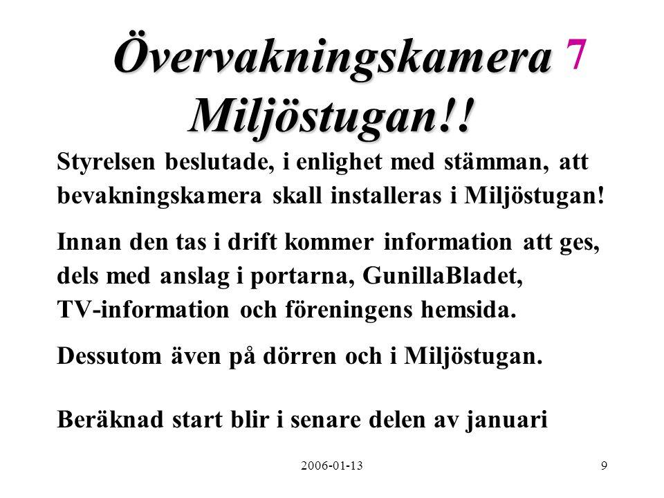 2006-01-139 Övervakningskamera Miljöstugan!.