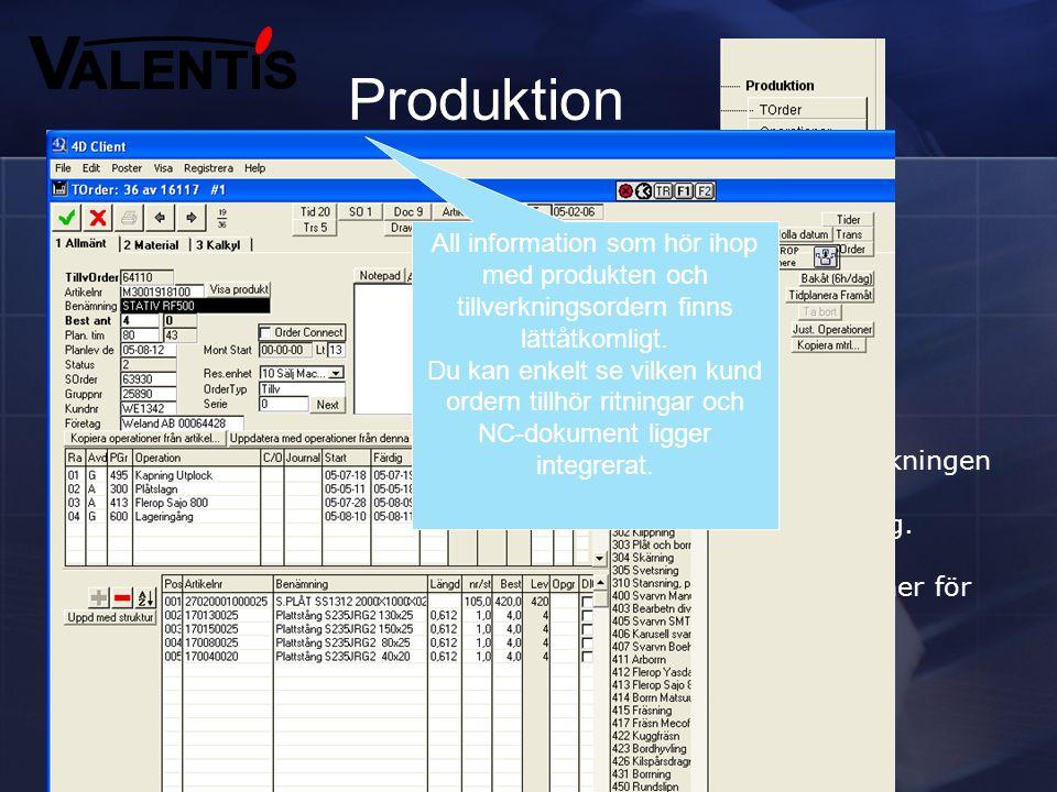 Inköp  Beställning av varor mot order • För produktion • För lager  Beställningar kan väljas att skötas med automatik från behovsanalysen som genere