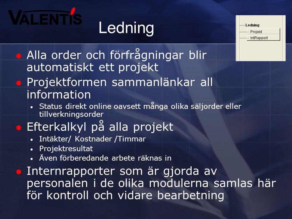 """Personal  Personalregister  Lokal anslagstavla  Vanlig """"stämpelklocka"""" med in och ut för all personal  Alla arbetar mot arbetsorder oberoende avde"""