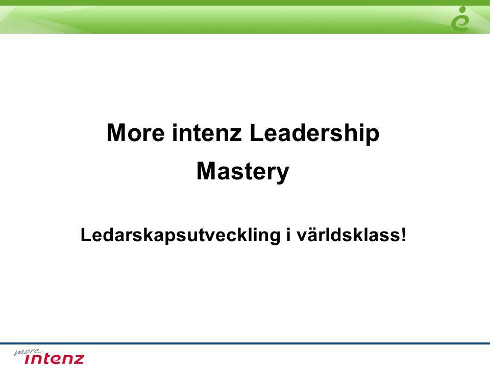 More intenz Leadership Mastery Ledarskapsutveckling i världsklass!