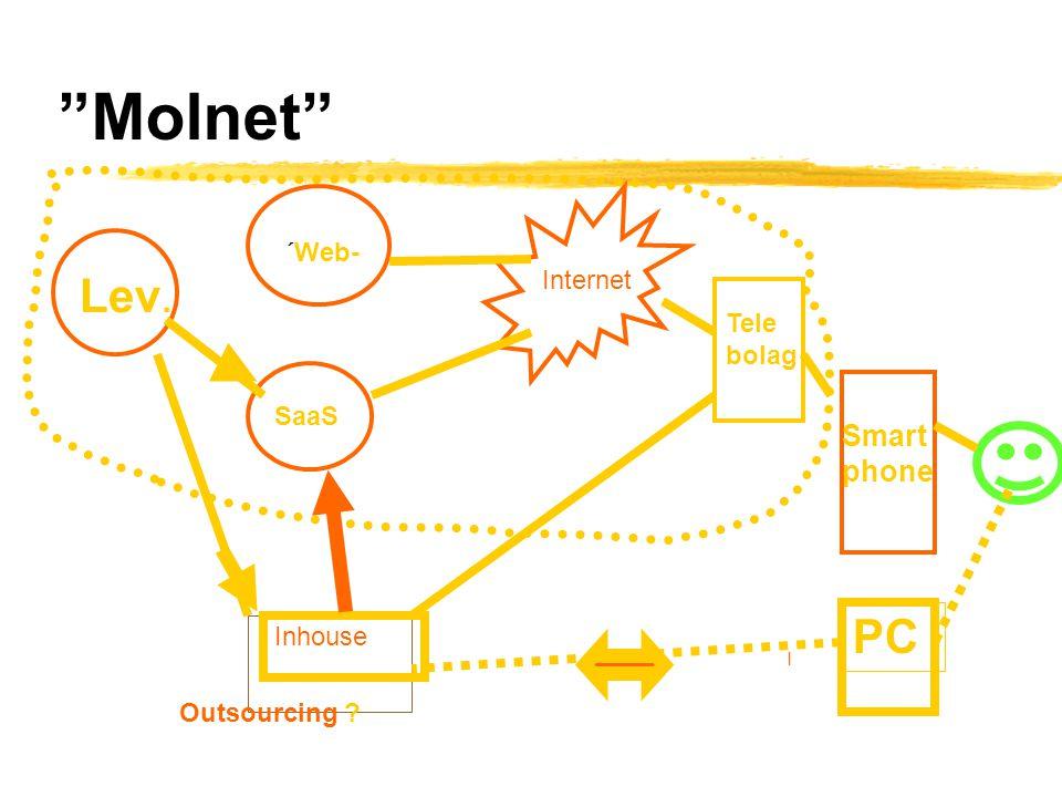 """Molnet"" l Tele bolag ´Web- Internet SaaS Inhouse Lev. Smart phone PC Outsourcing ?"
