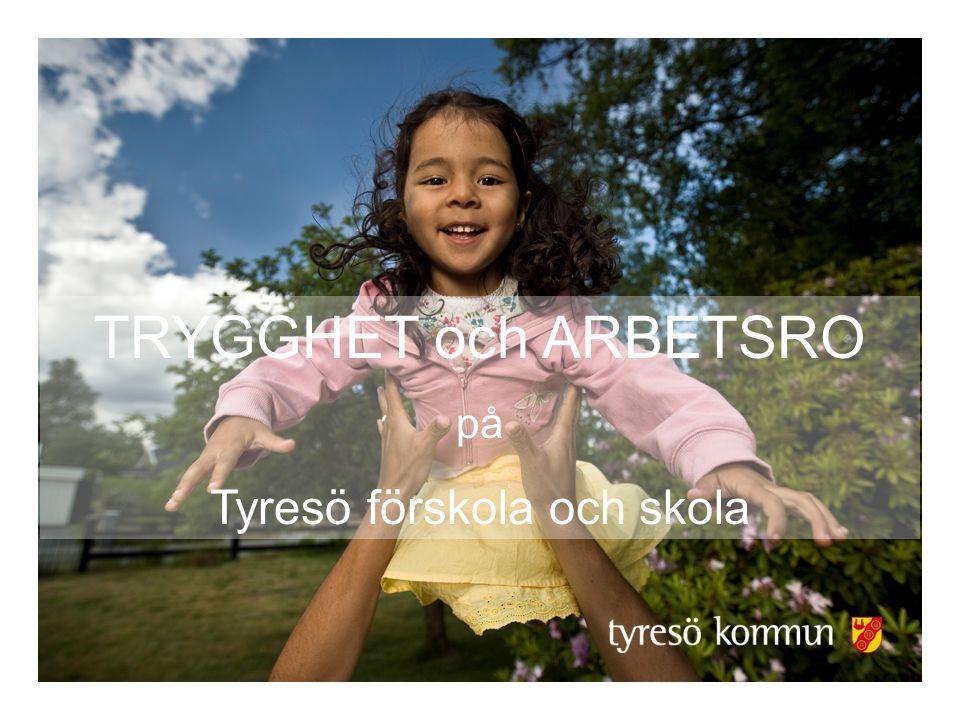 TRYGGHET och ARBETSRO på Tyresö förskola och skola