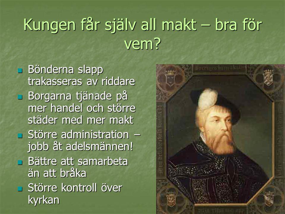 Det mäktiga Spanien och släkten Habsburg ca 1550 och framåt  Karl V har fått en stark position tack vare giftermål  Hans son Filip II tog 1556 över styret i Spanien, Europas kanske mäktigaste land  1580 var Spanien den dominerande sjömakten och Filips makt var stark och central