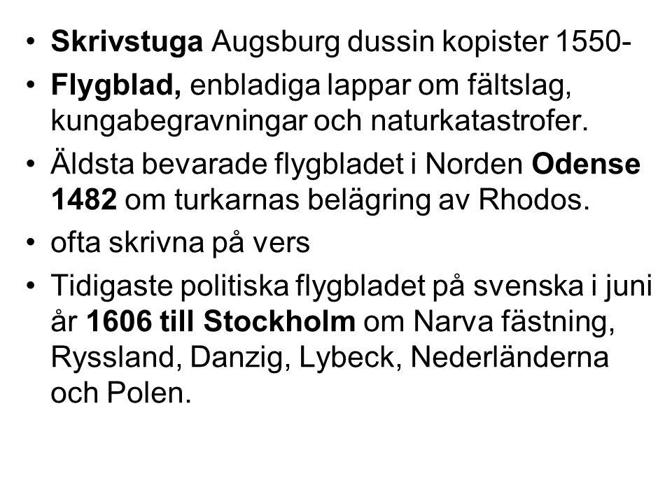 Suomenkieliset Tieto-Sanomat första tidningen på finska, 1775 Red.