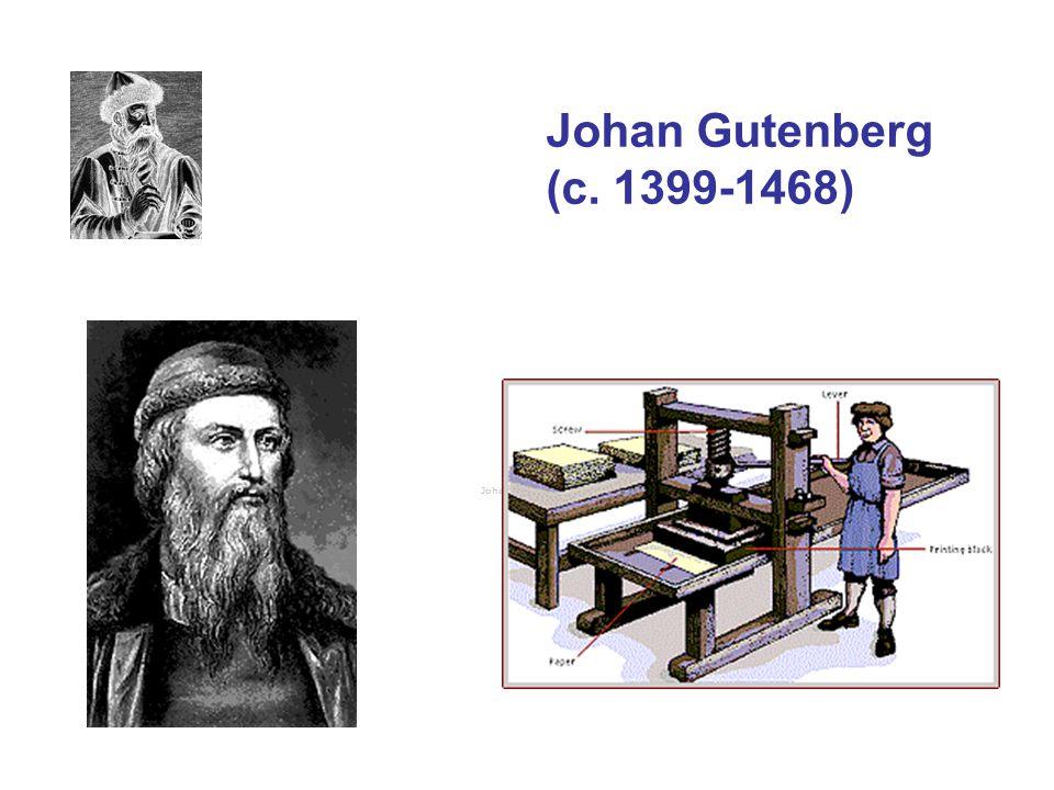Gutenbergs tryckeri •Det är viktigt att ha klart för sig att vad Gutenberg uppfann inte var en maskin eller ett enskilt instrument, utan en tillverkningsprocess.