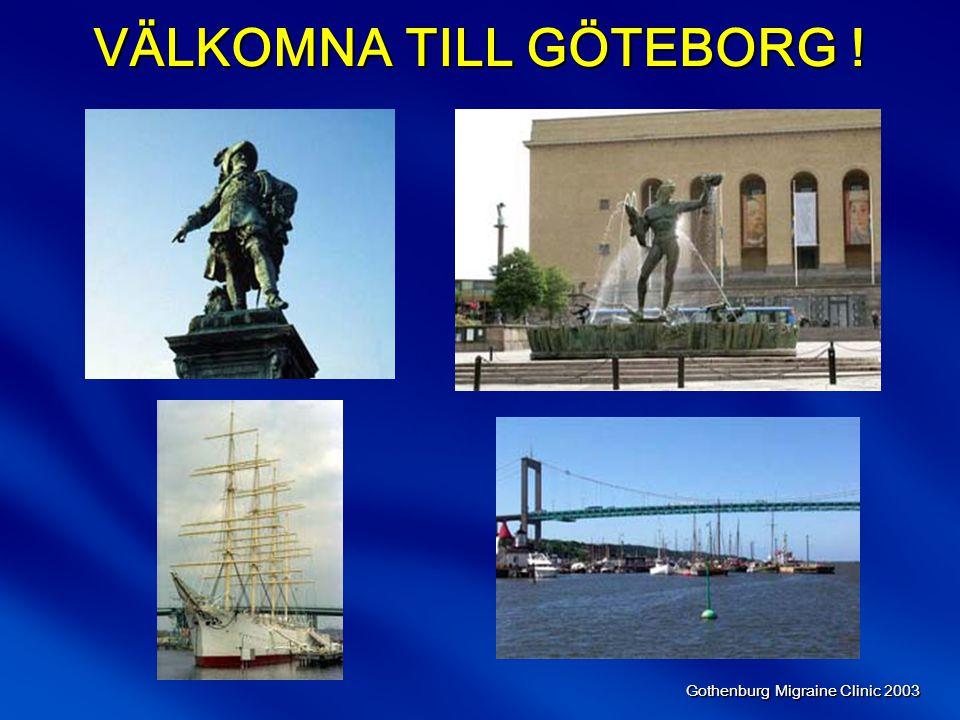 Gothenburg Migraine Clinic 2003 Migränanfallet Anfallsduration (timmar) 4-72 Lindrig Måttlig Svår Mkt svår Maximal 0 Symtomintensitet III