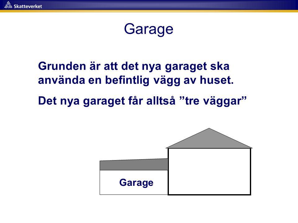 """Garage Grunden är att det nya garaget ska använda en befintlig vägg av huset. Det nya garaget får alltså """"tre väggar"""" Garage"""