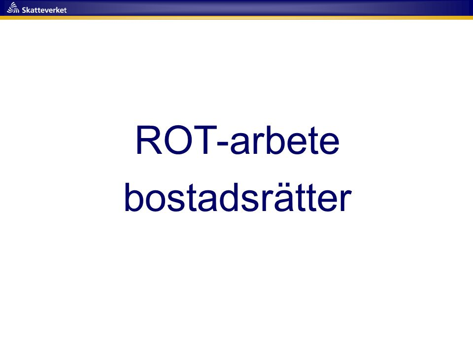 ROT-arbete bostadsrätter