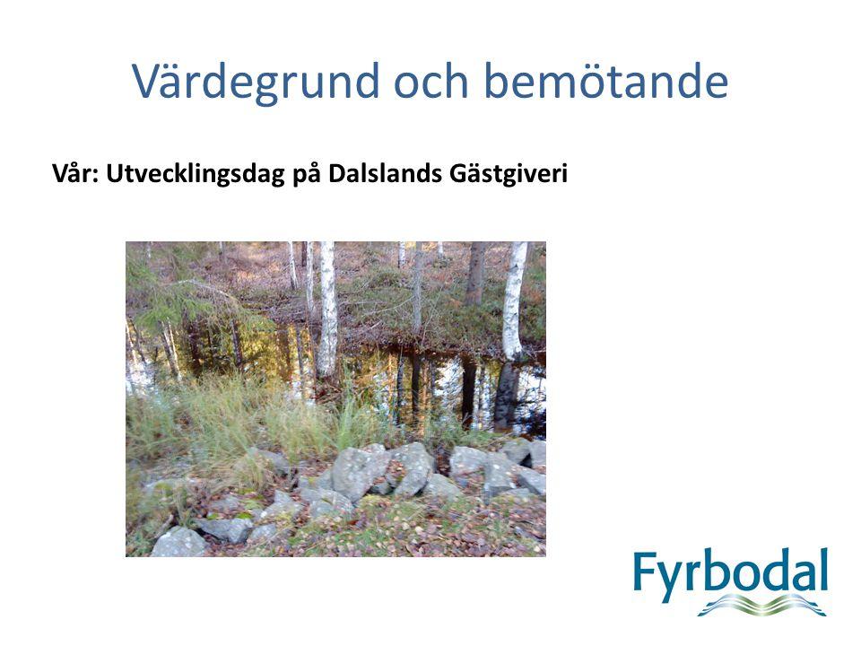 Värdegrund och bemötande Vår – Dalslands Gästgiveri Vård och omsorgsförvaltningens utvecklingschef Britthmari Andersson välkomnades och presenterade förmiddagens program.