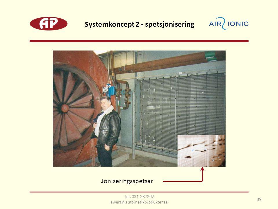 Joniseringsspetsar 39 Systemkoncept 2 - spetsjonisering Tel. 031-287202 ewert@automatikprodukter.se