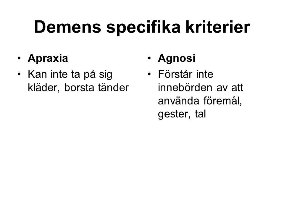 Uppdelning av demens • Kortikala - subkortikala • Hjärnregional uppdelning •Sjukdomsorsak