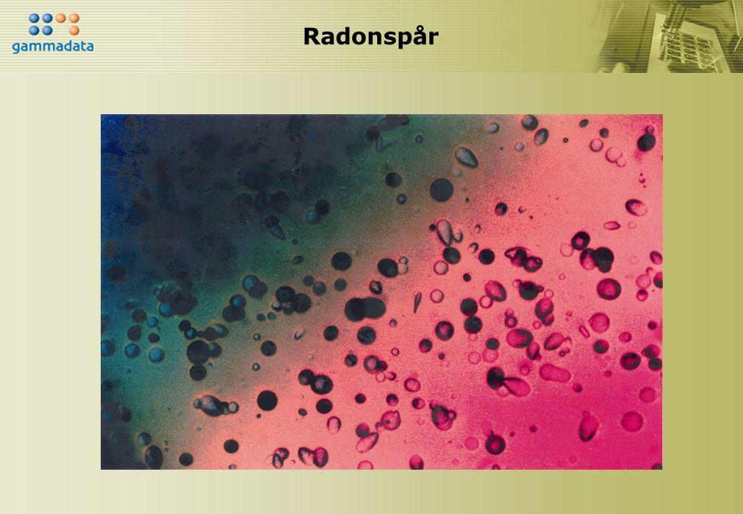 Radonspår