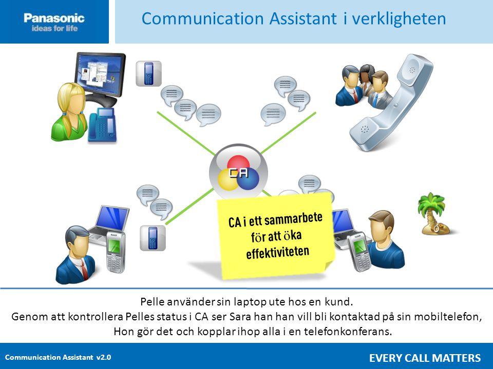 Communication Assistant v2.0 EVERY CALL MATTERS Ett viktigt samtal kommer in till Sara i receptionen.