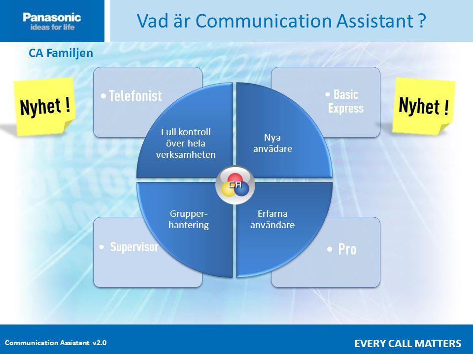 Communication Assistant v2.0 EVERY CALL MATTERS • Pro • Supervisor • Basic Express • Telefonist Vad är Communication Assistant .