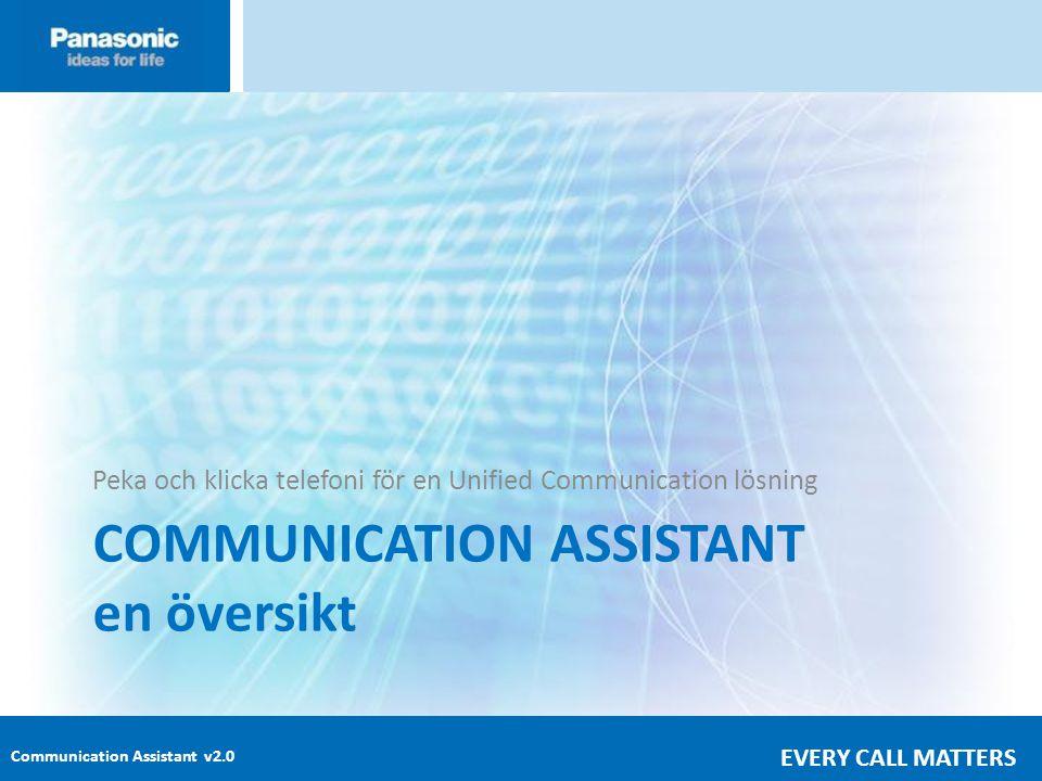 Communication Assistant v2.0 EVERY CALL MATTERS COMMUNICATION ASSISTANT en översikt Peka och klicka telefoni för en Unified Communication lösning