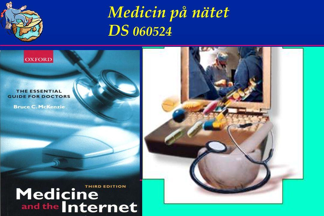 3 Medicin på nätet  Hur kan man som läkare få praktisk information från Nätet  Hur få fram bra föredragsbilder  Egen > 10 år erfarenhet av nätet