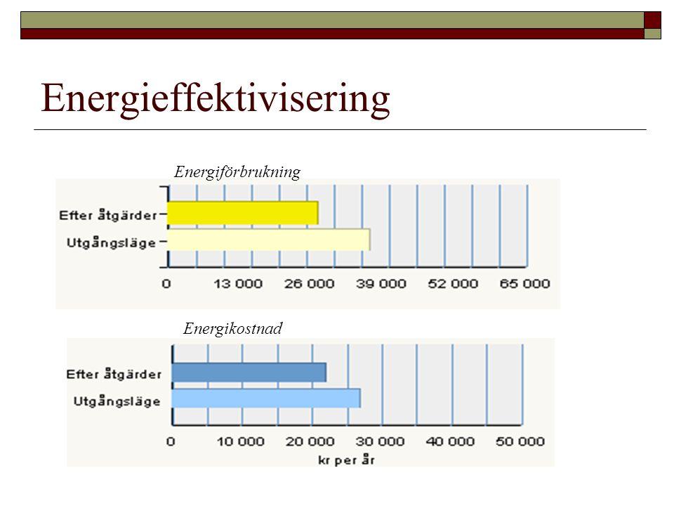 Energieffektivisering Energiförbrukning Energikostnad