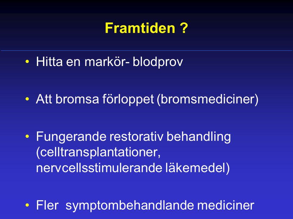Alla ickemotoriska symtom beror inte på Parkinsons sjukdom.