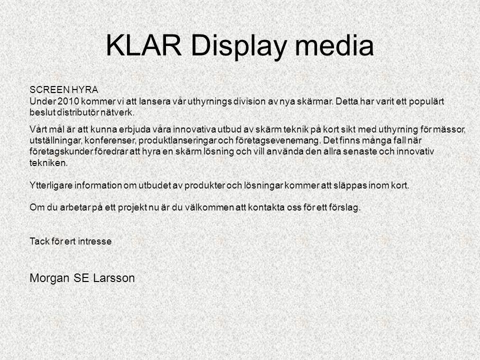 KLAR Display media Ett modernt konferensrum •Exempel på mötesrum som är ledigt eller upptaget...via fjärrkontroll.