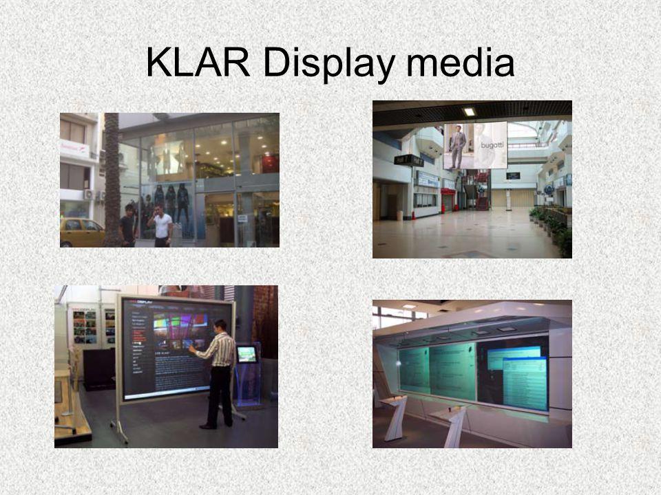 KLAR Display media •KLAR Display media´s leverantör av intelligenta glas har producerat innovativa produkter för glasindustrin för nästan ett decenniu