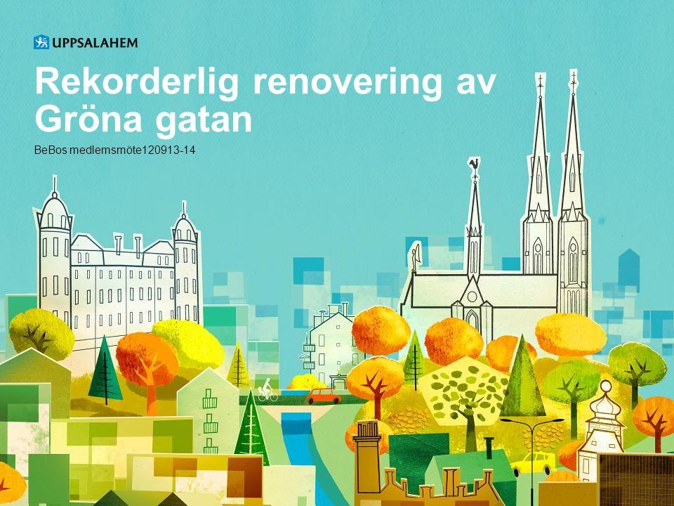 Rekorderlig renovering av Gröna gatan BeBos medlemsmöte120913-14