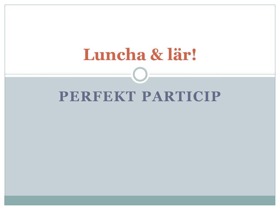 Luncha & lär! PERFEKT PARTICIP