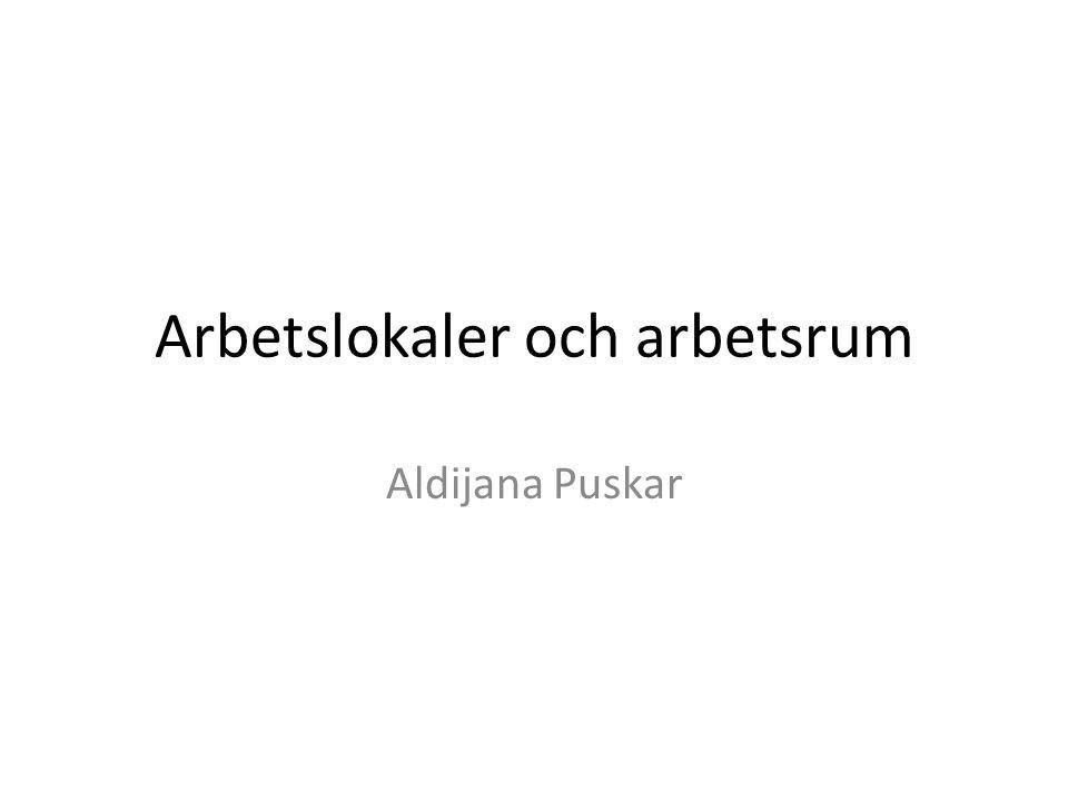 Arbetslokaler och arbetsrum Aldijana Puskar