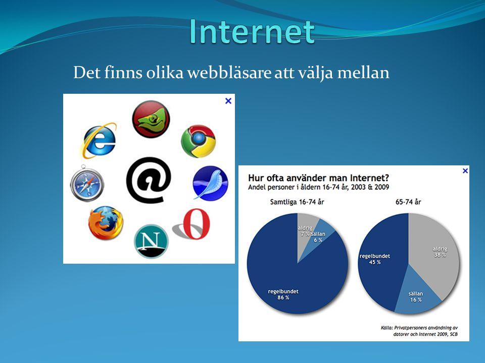 Det finns olika webbläsare att välja mellan