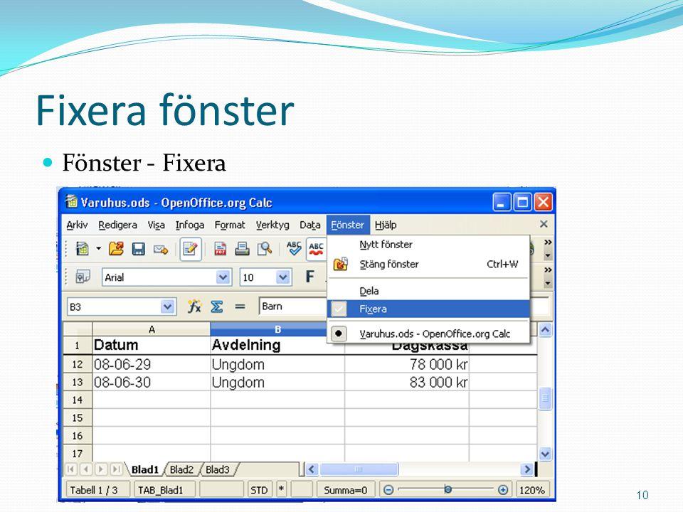 Fixera fönster  Fönster - Fixera Copyright 2011 Mahmud Al Hakim www.dynamicos.se10