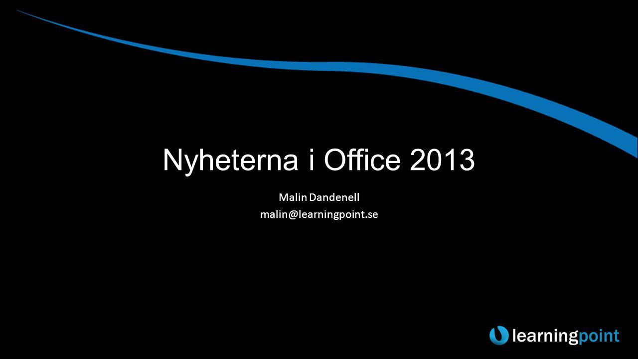 Dagens Plan 09:00-10:00 Nyheter i Office 2013 10:00-10:20 Kaffe, kaka och mingel 10:20-11:20 Nyheter i SharePoint 2013
