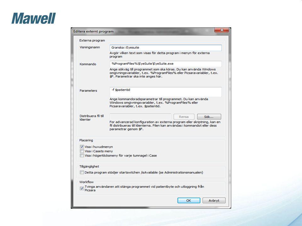 •Externt program som: •Granskar aktuell undersökning i NavisEx