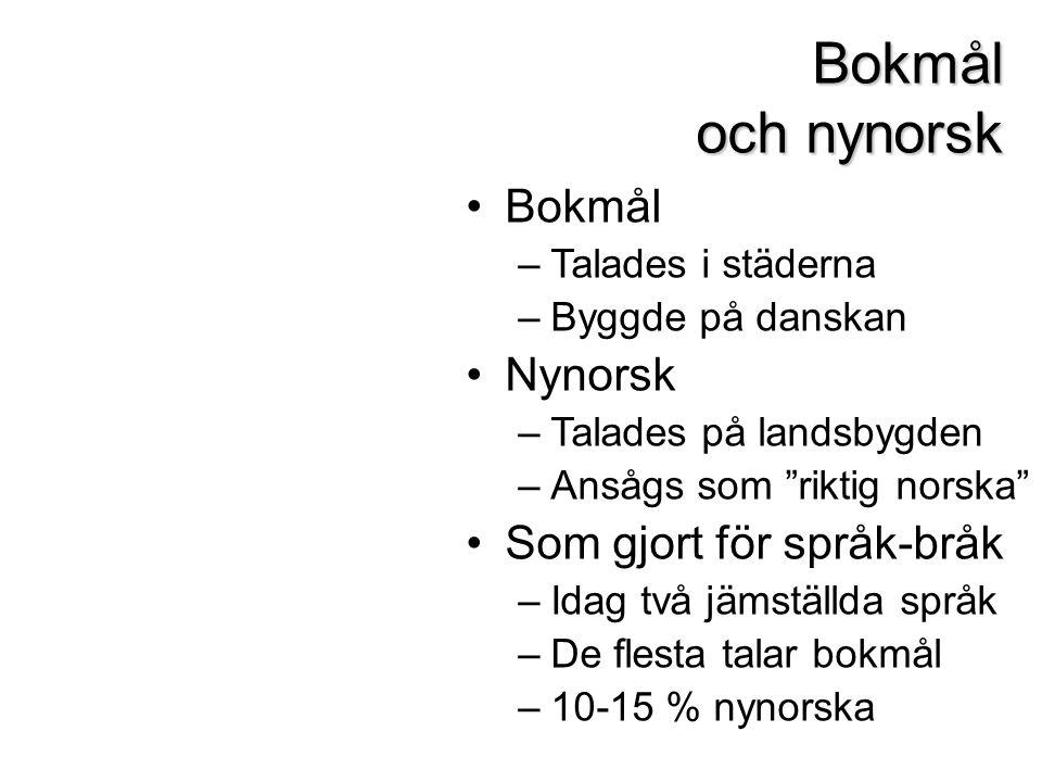 Bokmål Nynorsk Diskutera: Är det någon av texterna som är lättare att läsa? Vilken och varför?