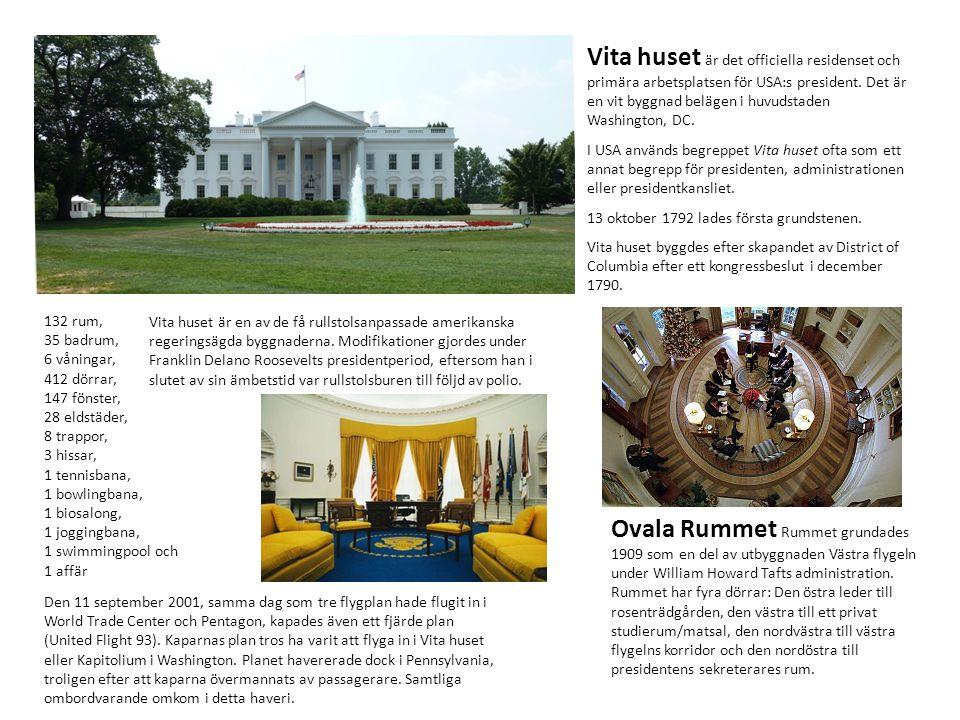 Vita huset är det officiella residenset och primära arbetsplatsen för USA:s president. Det är en vit byggnad belägen i huvudstaden Washington, DC. I U