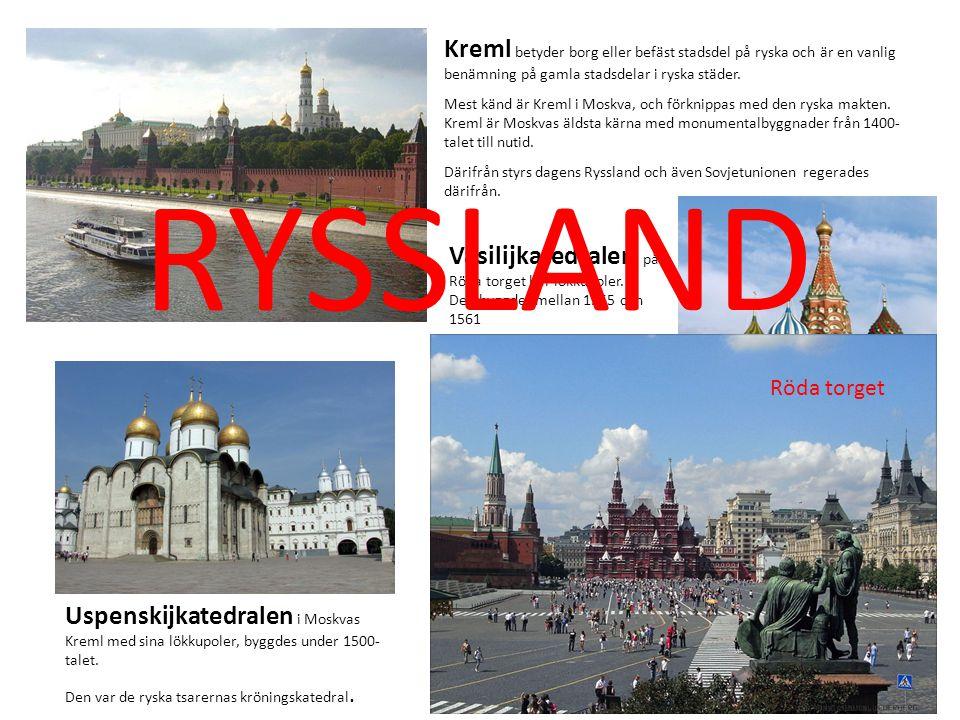 Kreml betyder borg eller befäst stadsdel på ryska och är en vanlig benämning på gamla stadsdelar i ryska städer. Mest känd är Kreml i Moskva, och förk
