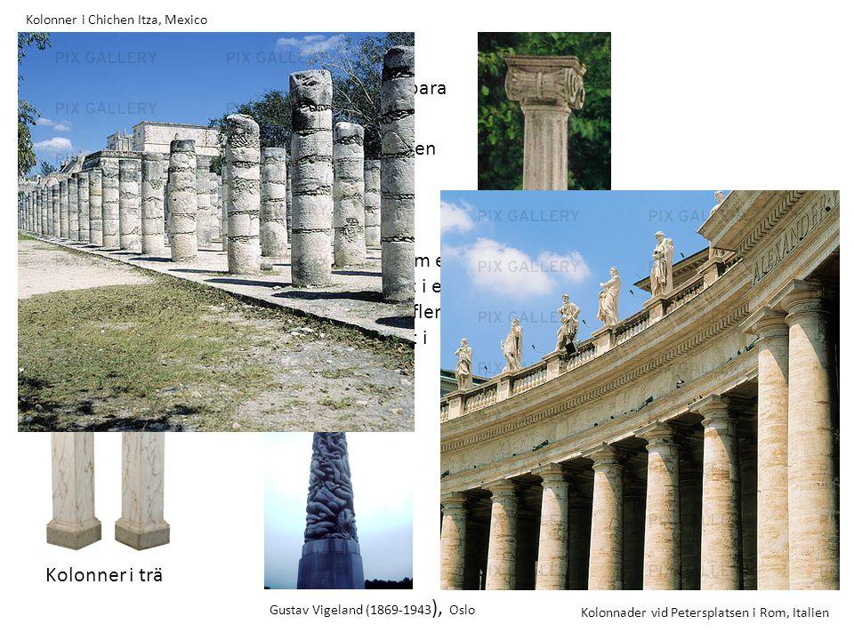 Kolonn är ett fristående vertikalt stöd, bestående av bas, skaft och kapitäl eller bara skaft och kapitäl. Skaftet har vanligen cirkulär form eller, m